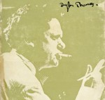 Dylan Thomas on cover of poetry book