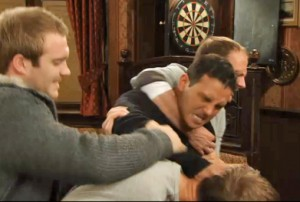 Jason hitting Marcus at bar