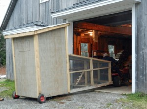 moving coop into garage - farm animals