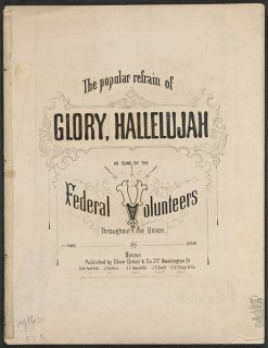 anthem sheet music Battle_Hymn_of_the_Republic_Lib of Congress