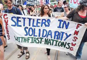 banner settlers in solidarity with 1st nations beaconnews.ca-2012-12