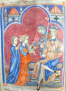 King Solomon C14th-Psalter-St.-John's-Cambridge-joh.cam.ac.uk_library_special_collections_manuscripts_medieval_manuscripts_medman_A_K26_K26f10v.htm
