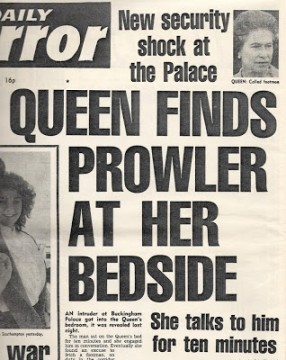 Daily-Mirror-July-1982 Palace prowler headline