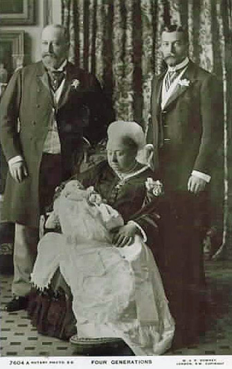 London,-Royalty,-Four-Generations Queen Victoria