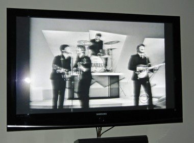 CBS Beatles ad on tv