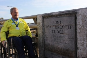 Ron Turcotte at Ron Turcotte Bridge Grand Falls NB