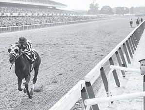 secretariat running the belmont stakes