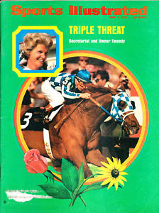 sports illustrated cover 1973 with Secretariat and Ron Turcotte