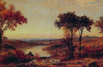 painting by Jasper Francis Cropsey C19th Wyoming Valley PA