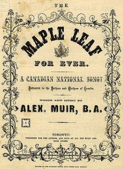 Maple Leaf Forever sheet music cover