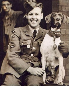 dog Judy and handler Frank Williams