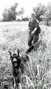 Vietnam War scout dog and handler