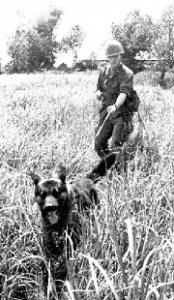Vietnam War scout dog and handler