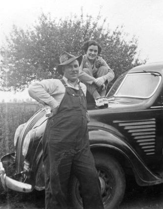 bill-burwell and luella unknown by car