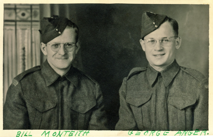George Anger and Bill Monteith WWII England