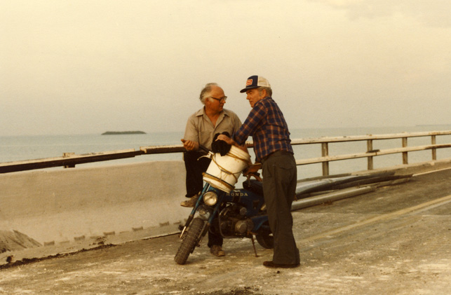 George Anger and JIm Murray in Big Pine Key Florida