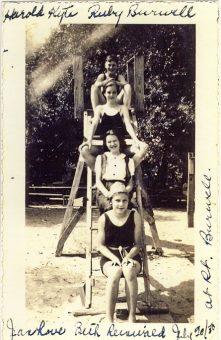 Harold Kyte, Ruby Burwell, Jean Love, Beth Reinwald