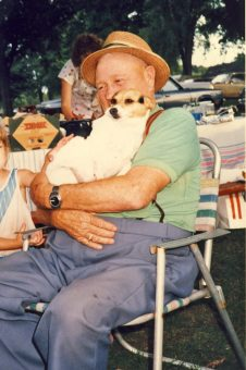 Solon Laur and dog Tinker 1987