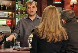 steve at bar serves jenny and kev