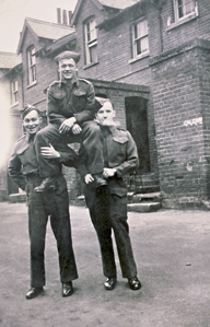 VE Day post, photo Jim Taggart, George Anger, Bill Carley 1944
