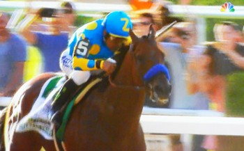 american pharoah in belmont