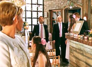 Sally's wedding Tim walks in