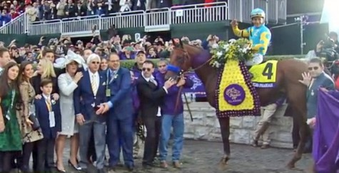 Breeders cup celebration wave