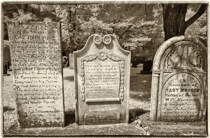 Loyalist gravestones-Ford family-Hampton NB