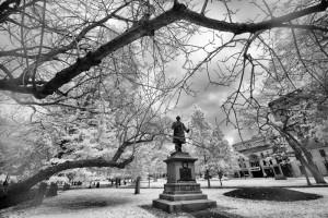Saint-John New Brunswick-S-L-Tilley-SUE statue King's Square