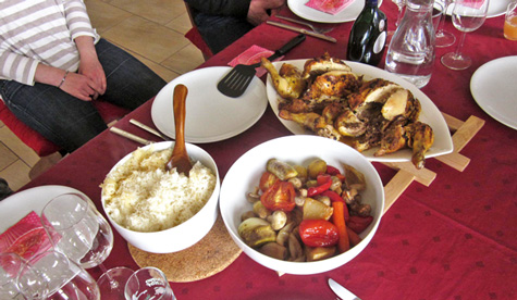roast guinea fowl dinner Gesell-photos