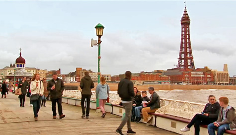 Jenny and Johnny on Blackpool pier