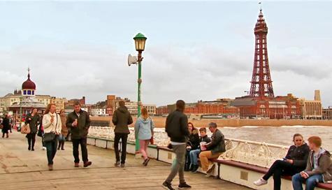 Jenny and Johnny on Blackpool pier