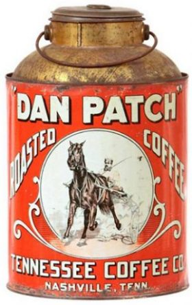 Dan Patch coffee can from ctpost.com