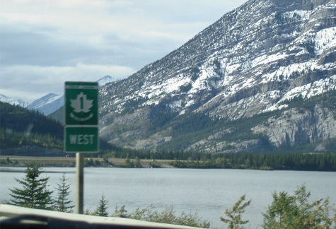 TCH 1 west road sign in Alberta photo O Ogglesby
