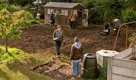 Tim comes back to see garden fully dug