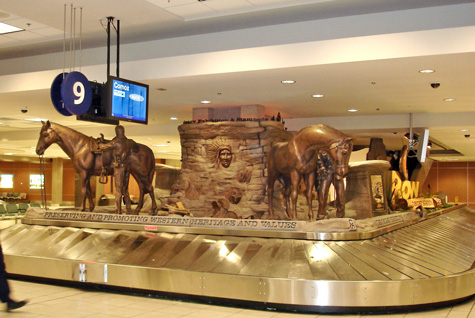 western heritage statue-2006 Calgary airport photo O Ogglesby