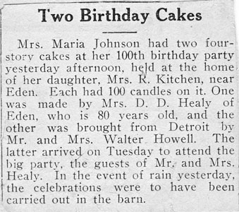 clipping Two Birthday Cakes