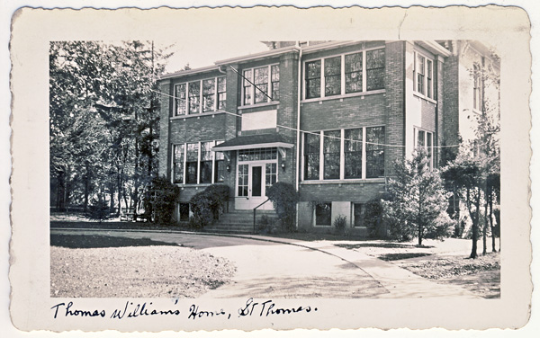 Thomas Williams Home in 1944 57 Walnut Street St. Thomas ON