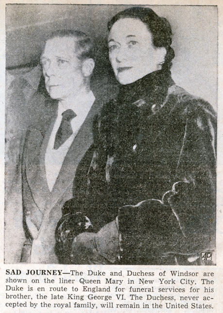 duke and duchess of windsor on liner queen mary