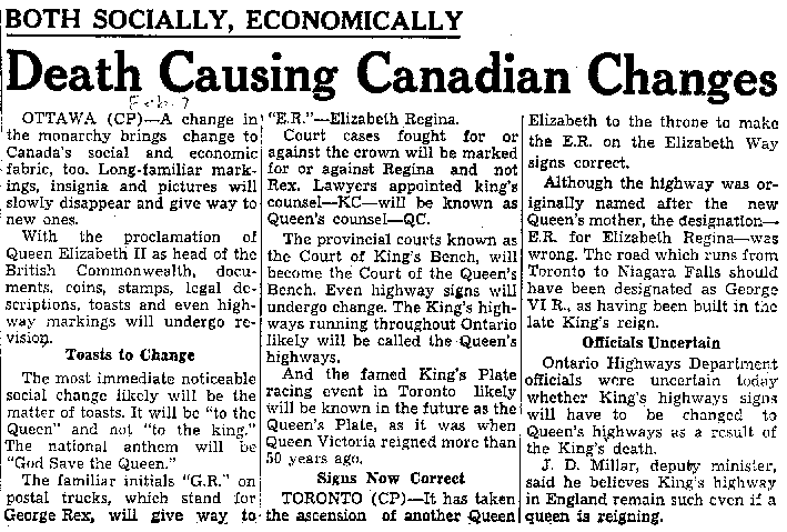death causing canadian changes