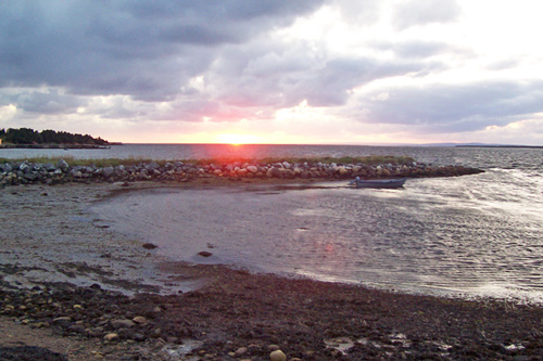 st george's beach sunset 2008 photo dorothy stewart - newfoundland mikmaq