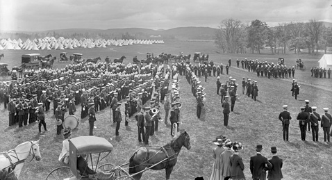 Summer Camp parade, Camp Sussex 1910 8th Hussars Reg. Museum virtual museum.ca