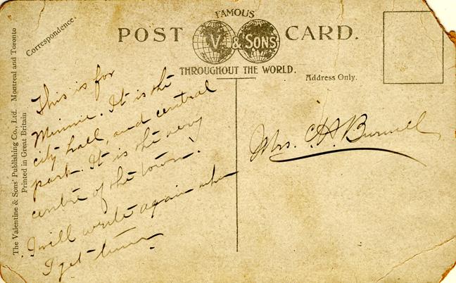 central park card message D Stewart postcards coll.