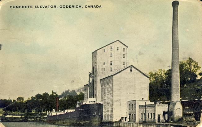 concrete elevator goderich D Stewart postcards coll.