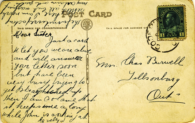 court house card message D Stewart postcards coll.