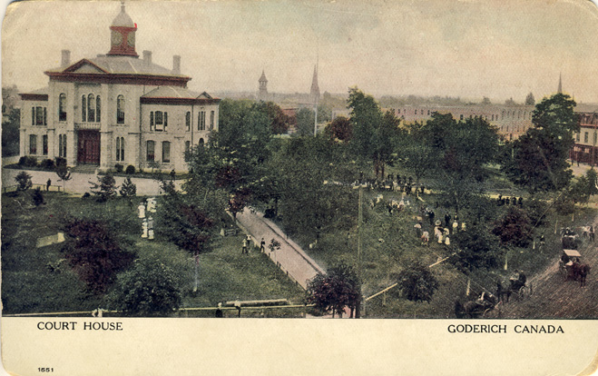 court house goderich D Stewart postcards coll.