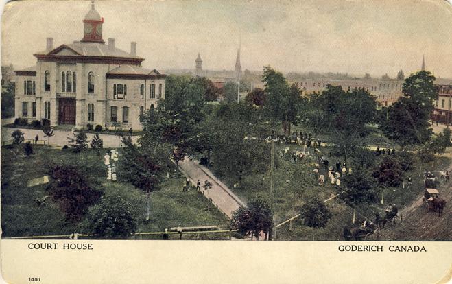 court house goderich D Stewart postcards coll.