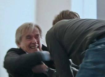Daniel chokes Ken