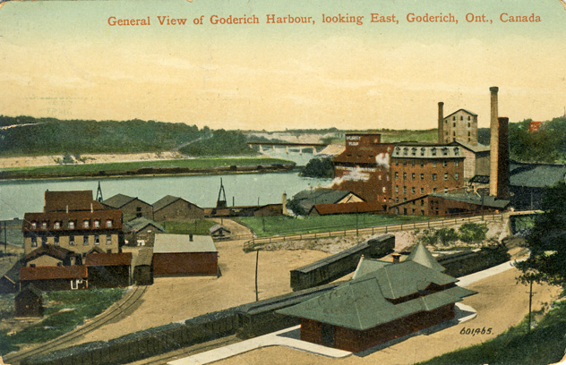 goderich harbour looking east D Stewart postcards coll.