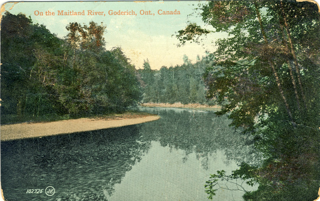 on the maitland river D Stewart postcards coll.